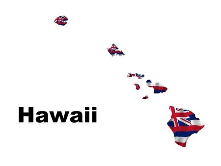 Hawaii flag map photo