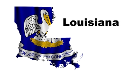 louisiana flag: Louisiana flag map