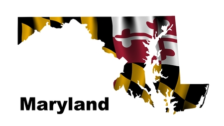 maryland flag: Maryland flag map Stock Photo