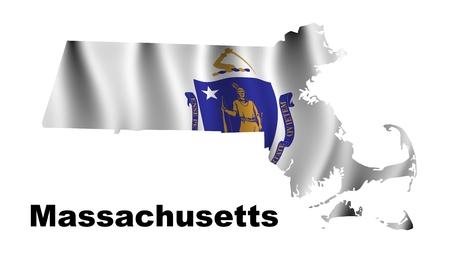 Massachusetts flag map photo