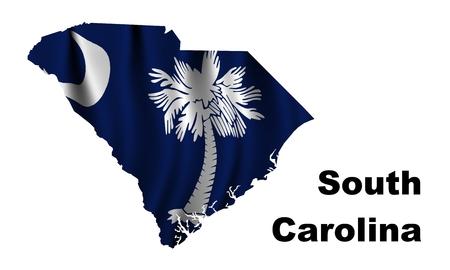 South Carolina flag map photo
