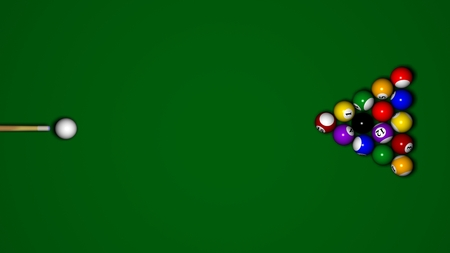top animated: Billiard table