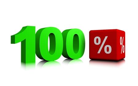 Green hundred percent Banco de Imagens