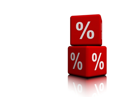 Red Cubes with Percent symbols