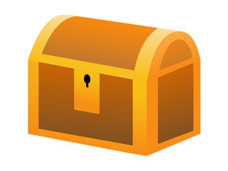affluence: Closed treasure box Stock Photo