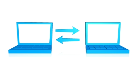 Two laptop connection photo