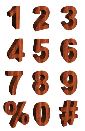 bole: Wooden Numbers