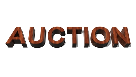 better price: Auction title Stock Photo
