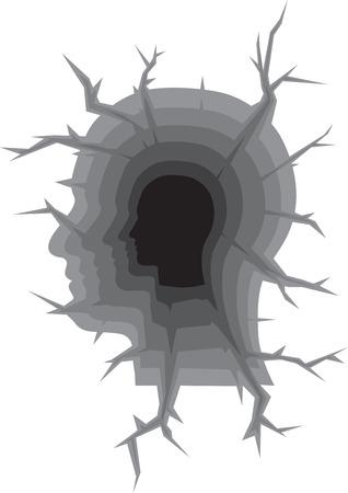 breakage: Human Head hape as a Earth Crack