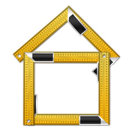 angle bar: House Made of Iron Rulers with angle bar