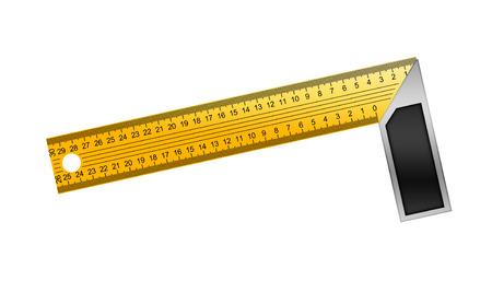 angle bar: Iron Ruler with angle bar