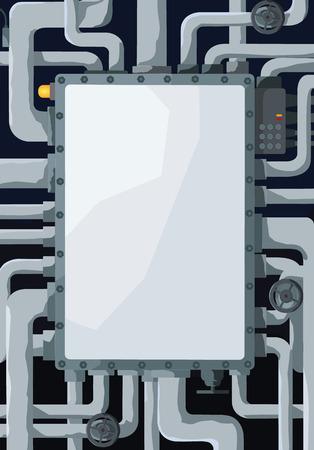 ventile: Hintergrund mit Pipeline, Ventile und Textfeld in der Mitte
