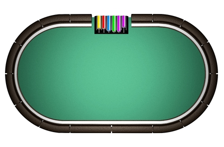 Realistic Poker Table Archivio Fotografico