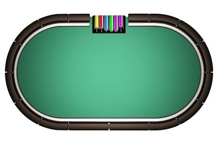 Realistic Poker Table Stockfoto