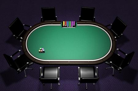 Realistic Poker Table Standard-Bild