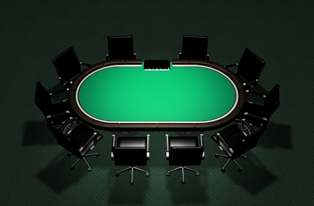 Realistic Poker Table 写真素材