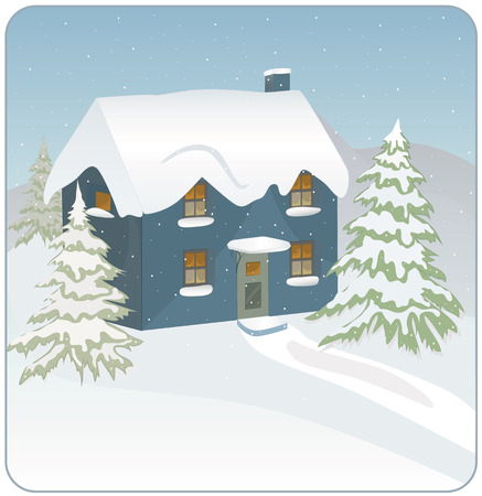 natale: Blue winter house
