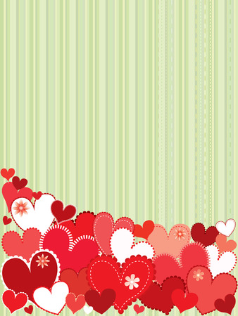 colorfull: Valentine card theme with colorfull heart Illustration