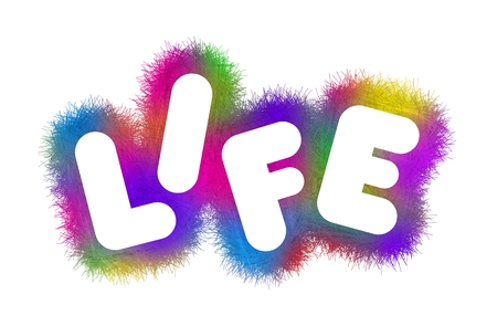 absurd: Colorful title Life Stock Photo