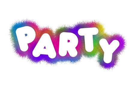 partying: Colorful title Party Stock Photo
