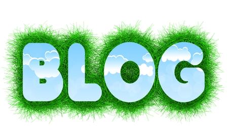 title: Blog title Stock Photo