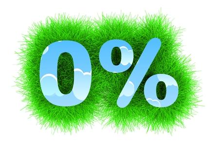 Zero Percents Banco de Imagens