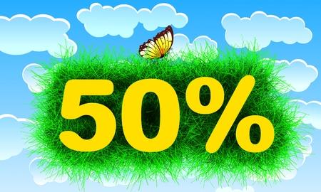 Fifty Percent Banco de Imagens - 44237973