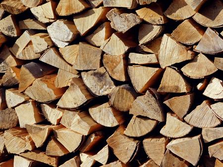 Cleaved firewood texture Banco de Imagens