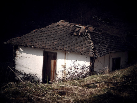 ruined: Old ruined village house from Serbia