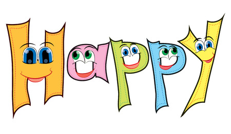 Happy theme with funny eyes