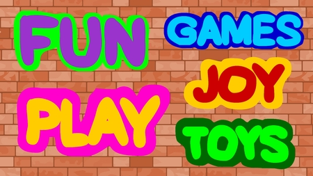 title emotions: Fun, Games, Play, Toy, Joy Stock Photo