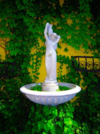 Small White Fountain