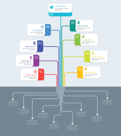 mindmap: Tree process mindmap vector infographics Illustration