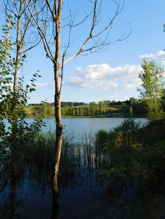 A beautiful lake view in the forest Stock fotó