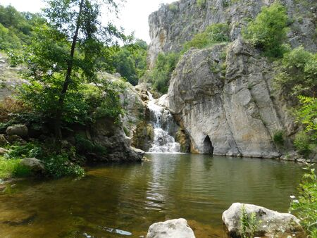 A picture of a waterfall in Blederia, Eastern Serbia. Stock fotó