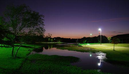 Pond at night Stok Fotoğraf