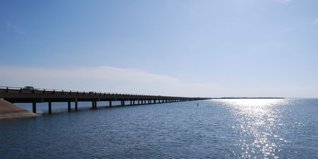 Bridge over lake Stok Fotoğraf