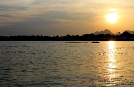Evening sunset cruise Stock Photo