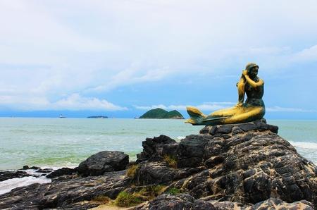 Golden Mermaid � Sign of Songkhla, Thailand photo