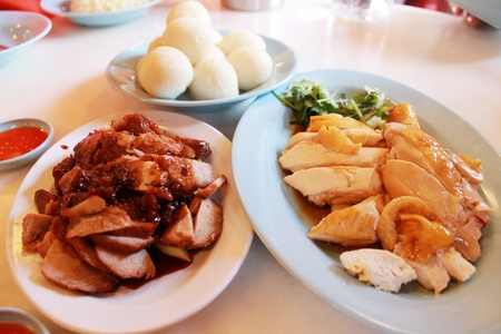 Chicken rice ball, the famous food in Melaka, Malaysia Stock Photo