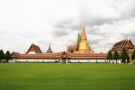 The landscape of Wat phra kaew, Bangkok, Thailand