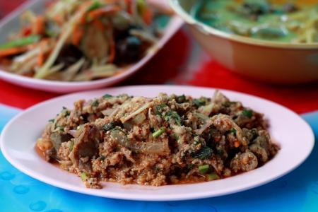 Laab - Traditional Thai food, Northeastern Style of Thailand  Isaan