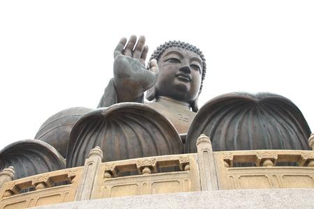 lantau: The Tian Tan Buddha in Hong Kong Lantau Island - Po Lin Monastery Stock Photo