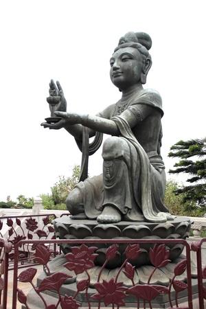 The Tian Tan Buddha in Hong Kong Lantau Island - Po Lin Monastery Stock Photo