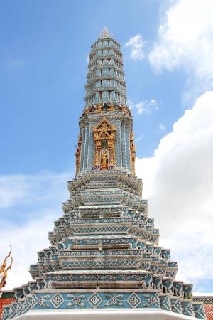 The pagoda in Grand Palace Wat Phra Kaew Bangkok, Thailand