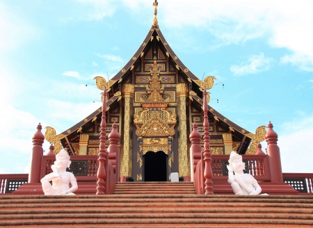 Ho Kham, the building featured Lanna architecture, the architectural style of northern Thailand
