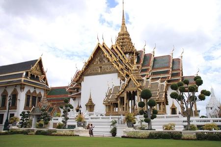 Wat phra kaew, the Temple of the Emerald Buddha, is one of the main landmark of Bangkok, Thailand  Stock Photo