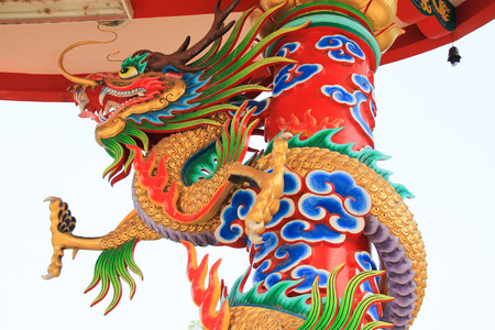 Dragon decoration in the temple Chinese architecture