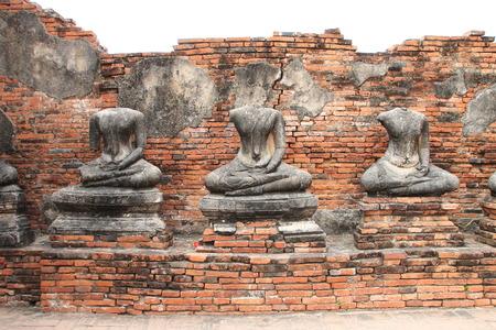 Headless Buddha statues at Wat Chai Watthanaram, Ayutthaya, Thailand