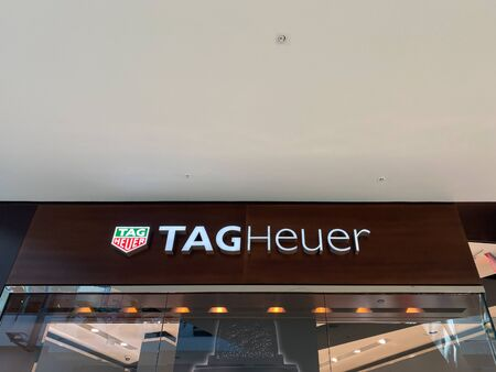 Orlando,FL/USA-9/30/19: A Tag Heuer store in an indoor mall.  Tag Heuer is a Swiss luxury manufacturing company that designs, manufactures and markets watches and fashion accessories.